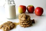 Spiced Apple Oatmeal Cookies With Brown Butter Icing