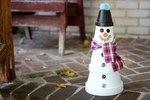 Clay Pot Snowman Tutorial
