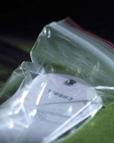 Tags inside plastic bag