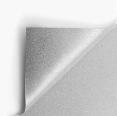 Silver page corner curl