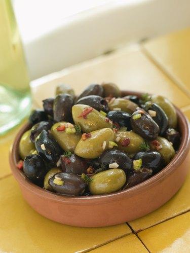 Dish of Mixed Marinated Olives
