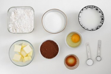 Ingredients for chocolate whoopie pies