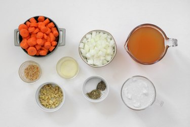 Ingredients for ginger carrot soup