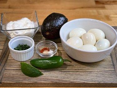 How to Make Guacamole Deviled Egg Footballs
