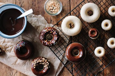 Baked Chocolate Glazed Doughnuts Recipe
