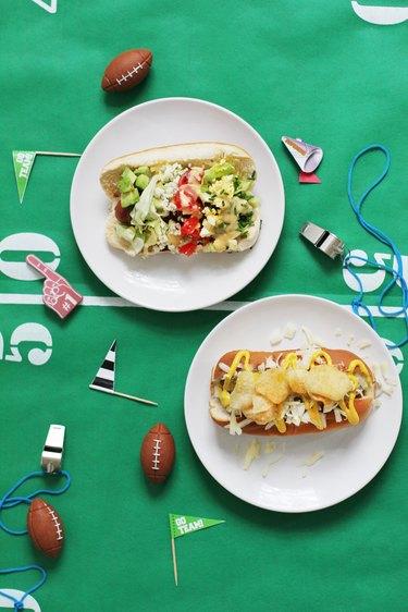 Super Bowl hot dog throw down
