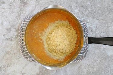 Add lemon juice and nutritional yeast