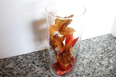 leaves in vase