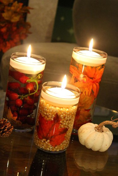 floating fall candles