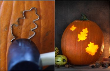carve with cookie cutters
