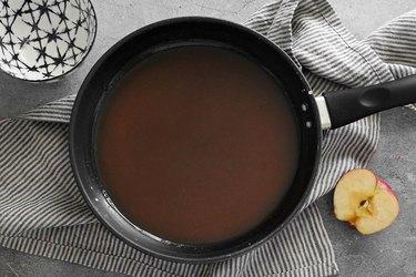 Add sugar, cinnamon and nutmeg