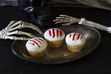 Monster claw cupcakes