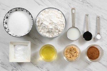 Ingredients for vegan cinnamon sugar cookies