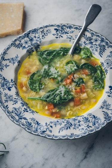Garnished soup