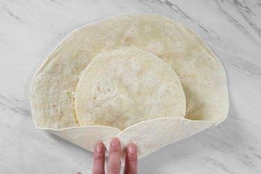 Fold the tortilla shell