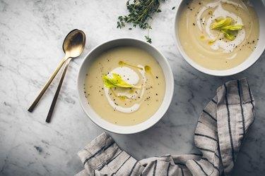 Garnished soups