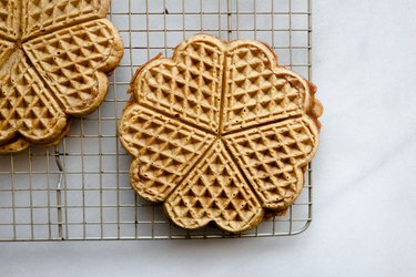 Set the waffles aside to cool slightly.