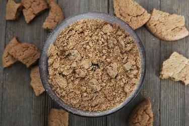 Gingersnap cookie crumbs