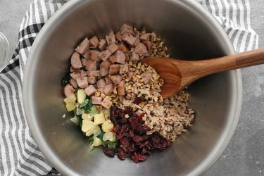 Combine stuffing ingredients