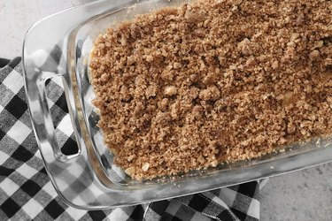 Add crumble topping