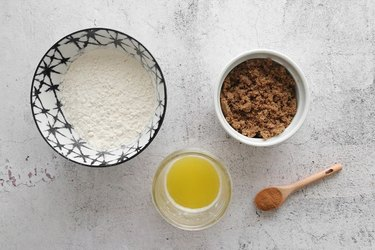Ingredients for crumble topping