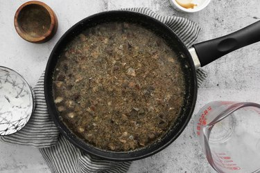 Mix in mushroom broth