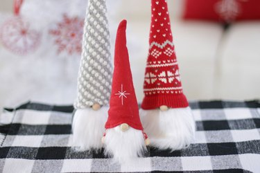 """grab some old sweater remnants, a sock and a little rice and before you know it you'll be hangin' with your """"gnomies"""" this winter, too."""