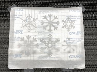 Snowflake template with Wax paper lining