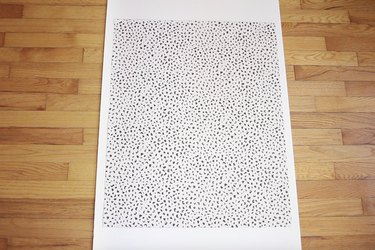 Gluing leopard poster board to foam board
