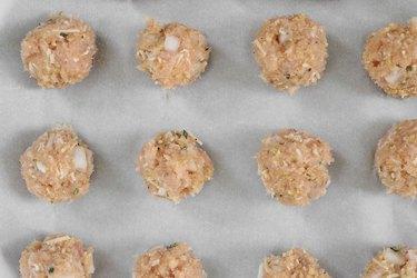 Bake turkey meatballs