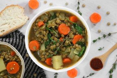 Lentil & potato stew