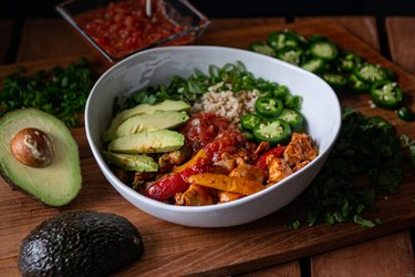 Chicken Cauliflower Taco Bowl Recipe