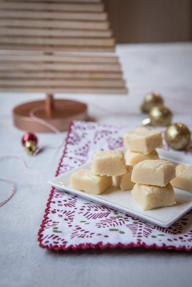 Eggnog White Chocolate Fudge Recipe
