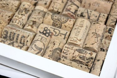 cut cork sections