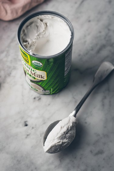 scooping out cream