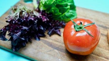 Ingredients for vegan BLT