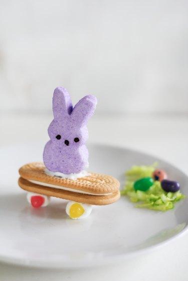 Peeps skateboarding bunny dessert