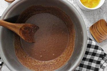 Mix liquid ingredients