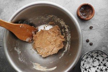 Mix dough with spatula