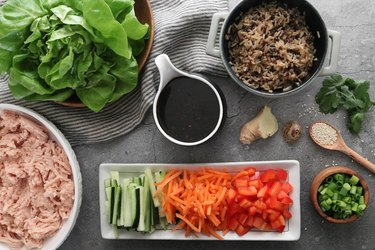 Ingredients for lettuce wraps