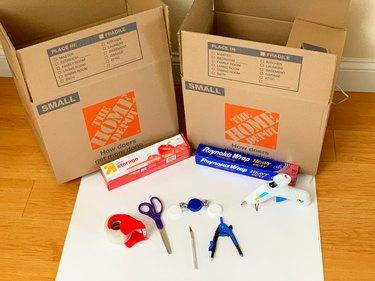 DIY Cardboard Play Washer & Dryer