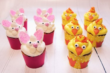 bunny chick cupcakes