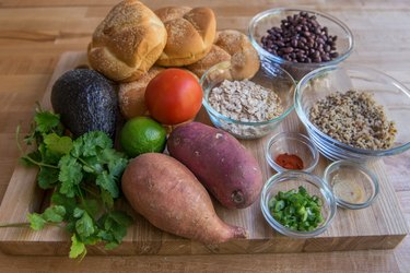 Vegan Guacamole Sweet Potato Black Bean Burger Recipe