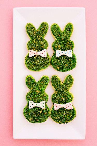 moss bunny cookies
