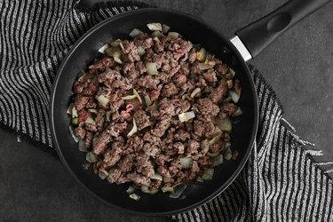 Cook ground beef
