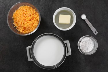 Ingredients for cheese sauce
