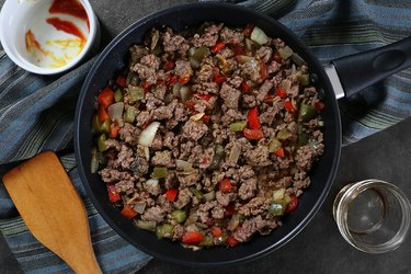 Cook the ground lean beef