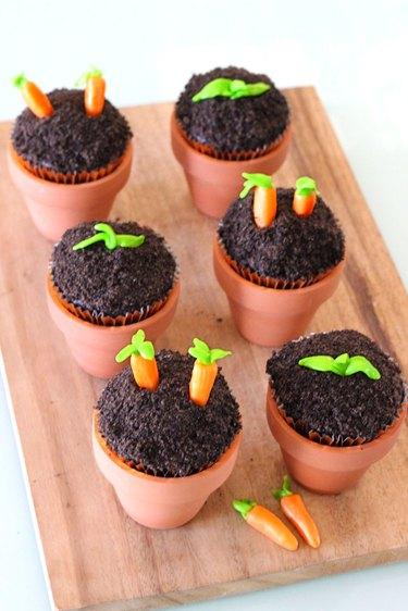 vegetable garden cupcakes