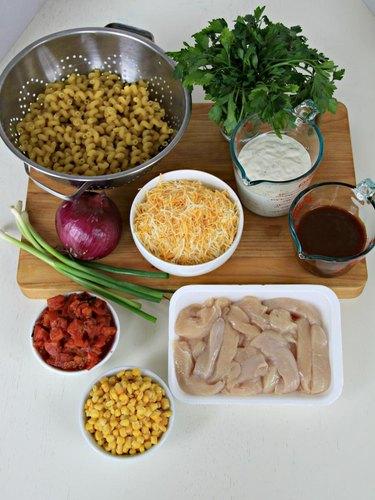 ingredients for bbq ranch chicken casserole