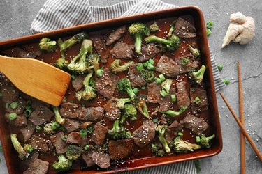 Sheet pan beef and broccoli recipe